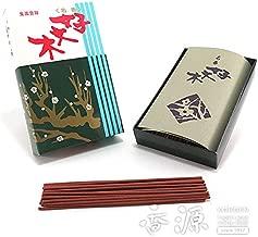 梅栄堂のお線香 好文木 平型バラ詰