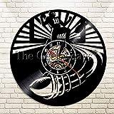 UIOLK Reloj de Pared de Vinilo de fútbol Americano Reloj de Pared Deportivo Reloj de Pared de Rugby Regalo para fanáticos del fútbol