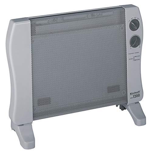 Einhell Wärmewellenheizung WW 1200 (230 V, 1200 W max., hochwertiges Mica Heizelement, stufenloser Thermostatregler, 3 Heizstufen, Kippschutz)