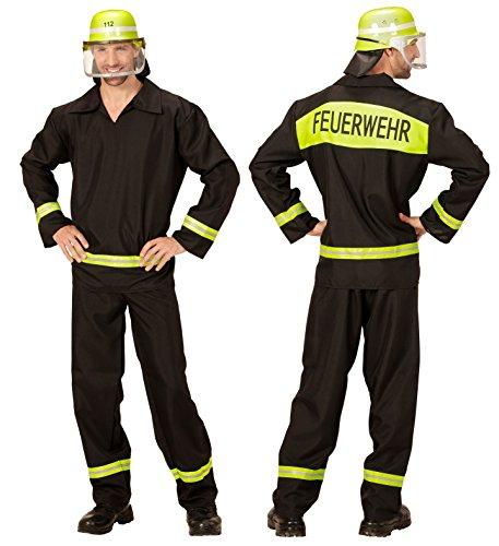Nick and Ben Feuerwehr-Kostüm Herren Gr. L 52/54 Feuerwehr-Mann Fasching Karneval waschbar Polyester