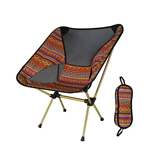 DISS Sillas para Exterior, Silla de Camping portátil, sillas de mochilero Plegable Ultraligero, Silla de Mochila Ligera Plegable Plegable pequeña Plegable en una Bolsa para al Aire Libre, Campamento,