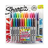Sharpie marqueurs permanents, pointe fine, Colour Burst & assortiment original, lot de 24