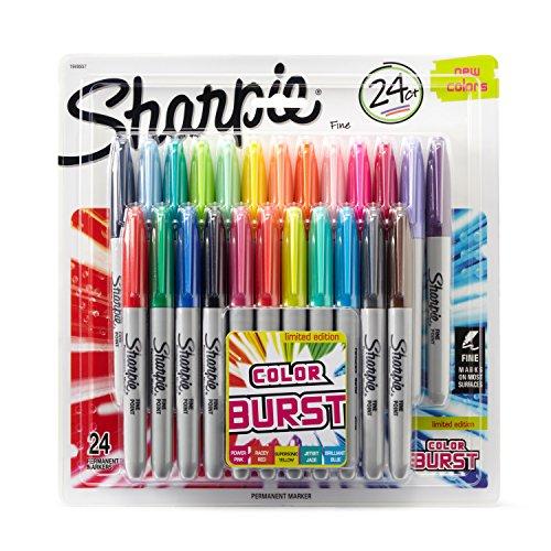 Sharpie Permanent Markers | Fine Point | Colour Burst & Assorted Original | 24 Count