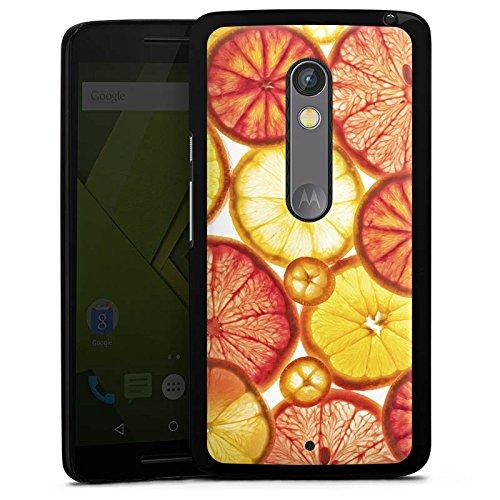 DeinDesign Lenovo Moto X Play Hülle Case Handyhülle Zitrone Lemon Orange
