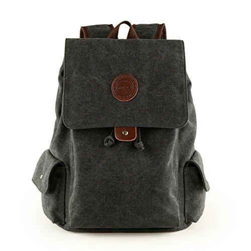 Sincere® Fashion Backpack/Zipper Sacs à dos/rue étudiants mode/multifonctions/sac en toile/haute école sac/sac à bandoulière casual/extérieur sac de sport/ordinateur sac noir