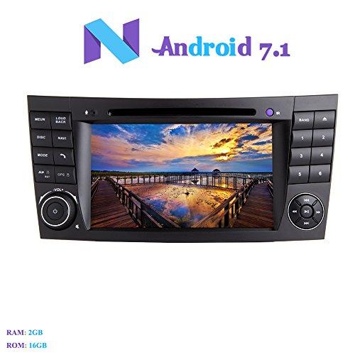 Android 7.1 Autoradio, Hi-azul 2 DIN Radio de Coche In-Dash Navegación GPS De Coche 7' Auto Radio Estereo con Reproductor De DVD para Mercedes-Benz E-W211/E200/E220/E240/E270/E280