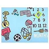 NROCF Baby monatliche Meilenstein Decke Neugeborenen, Foto Requisiten schießt Hintergrund, personalisierte Sport Fußball Badminton Fotografie wachsenden Säuglinge Wickeldecke