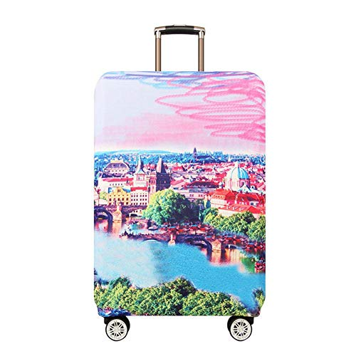 Great Deal! Vaskey Cute Cartoon Pattern Baggage Cover Suitcase Protective Cover with Zipper Elastic ...