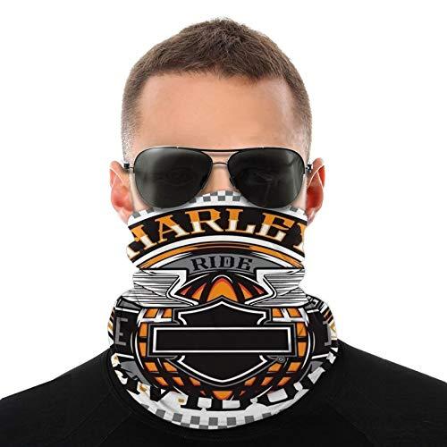 Harley Davidson - Pañuelo para la cabeza, cuello y cara, para exteriores, bandanas para hombres y mujeres