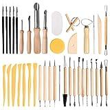 FOCCTS 40pcs Conjuntos de Herramientas de cerámica y alfarería para modelado de arcilla polimérica DIY Arcilla Máquina de Cerámica