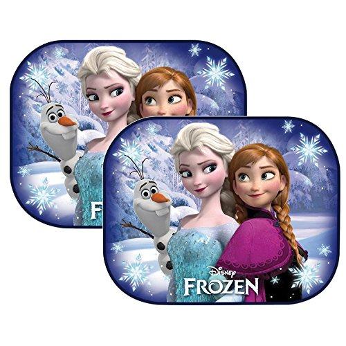 R.A.E Set 2 Tendine Parasole per Auto 44 x 35 cm per Bambini + 1 Adesivo da pc RICAMBI Auto Europa - (Disney Frozen)