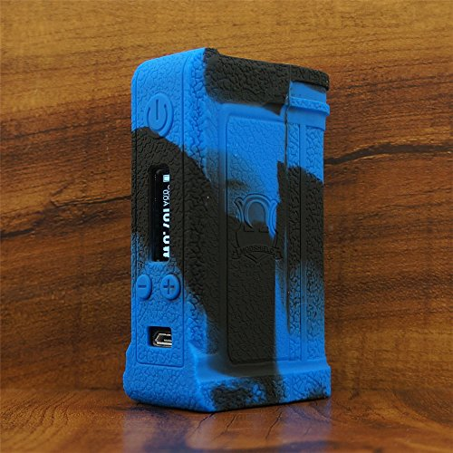 ModShield for Lost Vape Paranormal DNA166 Silicone Case ByJojo Cover Shield Wrap Skin Sleeve (Blue/Black)