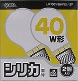 オーム 白熱電球40W LW100V38W55/2P 1箱(2個)