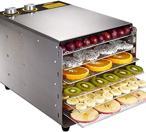 Great Price! XSWZAQ Commercial Food Dehydrator Machine | Easy Setup, Digital Adjustable Timer and Temperature Control | Dryer for Jerky, Herb, Meat, Beef, Fruit and To Dry Vegetables | Over Heat Protection | 6 Sta