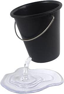 Creative Pencil Holder, Design Floating Bucket Pen Case Container Ideal Desk Accessory , cute Pencil Holder for Desk,Black