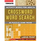 Crossword and Word Search Activity books: FunGate Puzzles books for adults Large Print   Wordsearch and Crossword Game to Challenge Your Brain (Adults & Seniors) (Puzzle books for adults Large Print)