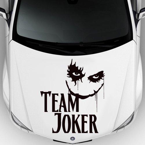 Car Decal Hood Sticker Vinyl Design Auto Moto Team Joker Playing Cards Comic Zombie M1517c