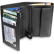 """TRAVANDO  Men's Wallet""""Dublin"""" - 10 Card Slots - RFID Blocking - Vertical Bifold Wallet - Perfect Gift for Men - with Gift Box - Designed in Germany"""