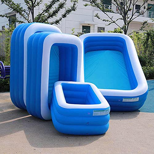 xy Piscinas inflables, 110/128/155 cm Piscina Inflable Rectangular Espesar PVC Pool Pool Bañera Bañera Al Aire Libre Piscina para niños Piscina Familiar (Color : 5ft 150x105x50cm)
