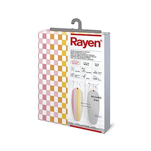 Rayen 6282.01 Funda para tabla de planchar reversible | 122x44cm | gris/multicolor, Algodón, 122 X 44cm