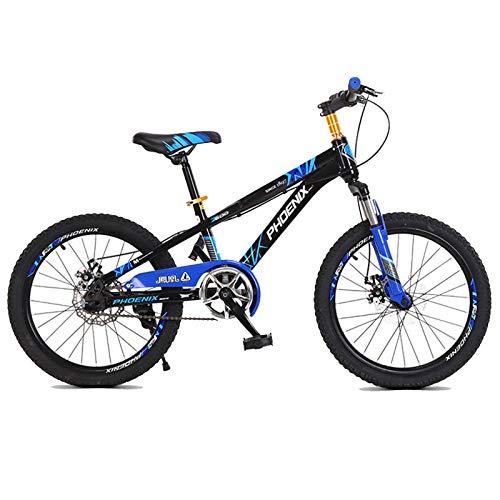 Axdwfd Infantiles Bicicletas Bicicleta de montaña para niños 18/20 Pulgadas Sola Velocidad Masculina y Femenina Estudiante Bicicleta Bicicleta Bicicleta bifurcación Frontal absorción de Choque