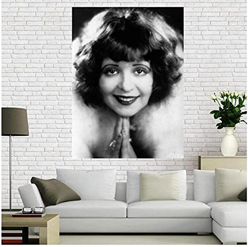 YUMKNOW Canvas Art Walls Painting 19.7'x27.6' No Frame Beverly Garland Poster Film And Television Actors Star Posters And Prints Photo Portrait Pictures Home Decor
