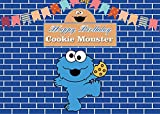 Fondos fotográficos Galletas comen Lindo pequeño Monstruo Fondo de Baile Azul Fiesta de cumpleaños decoración del bebé Mesa Foto Foto Fondo Personalizado niño-8x6ft