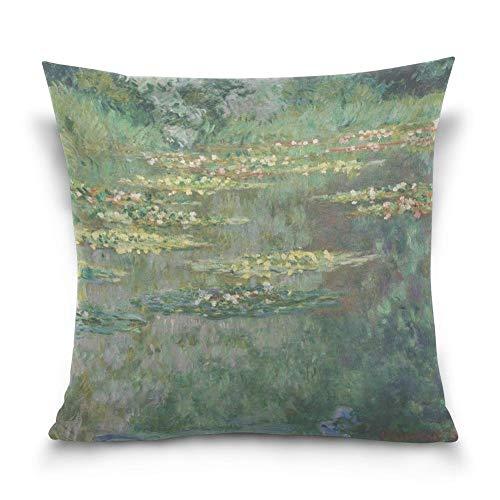 Joe-shop Le Bassin Aux by Claude Monet Funda de Almohada Decorativa Funda de cojín 18x18 Pulgadas