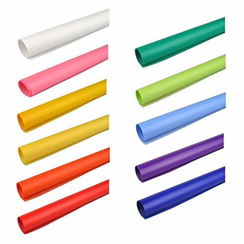 Creleo 791801 Transparentpapier, 115 g, 50.5 x 70 cm, 11er Pack, bunt sortiert