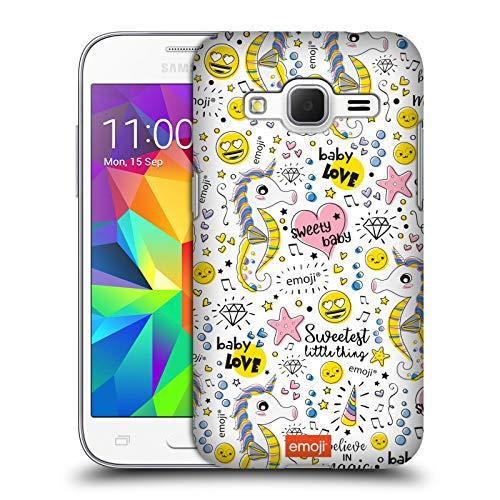Head Case Designs Ufficiale Emoji Doodle Dolcezza Cover Dura per Parte Posteriore Compatibile con Samsung Galaxy Core Prime