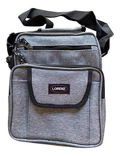 Lorenz Medium Sized Unisex Flight Gadget Travel Organiser Bag 26 x 21 x 11 cms - Grey