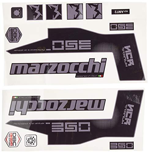 Ecoshirt P4-W7UO-WZES Stickers Fork Marzocchi 350 NCR Titanium Am72 Aufkleber Decals Autocollants Fourche Gabel Fourche Fourche Gris