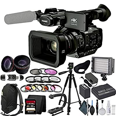 Panasonic AG UX90 4K Professional Camcorder with Lens Enhancement Bundle from Mad Cameras