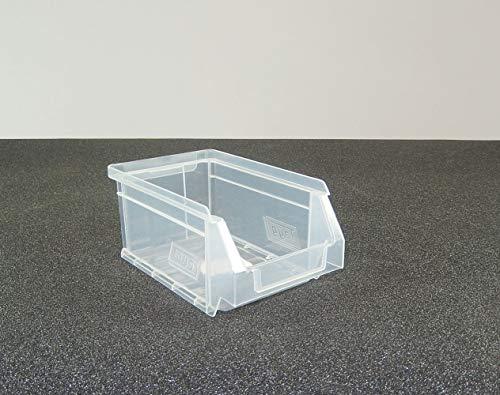 Gaveta apilable 51 Transparente. Lote de 24 unidades (80hx17x100mm)
