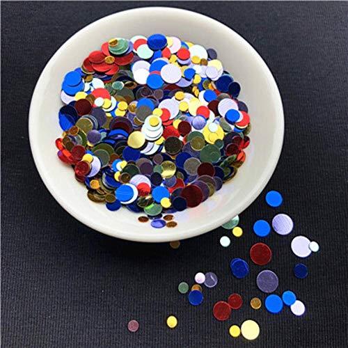 20 g/pak Multi grootte 3 mm 6 mm Dot vorm nagel pailletten voor Nail art, Lady manicure, bruiloft confetti, tas decoratie Sequin, willekeurige Mix
