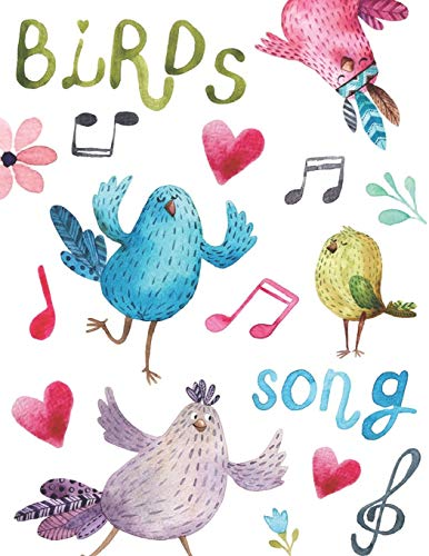 Birds song: Cuaderno de Música con 8 Pentagramas Por Pá
