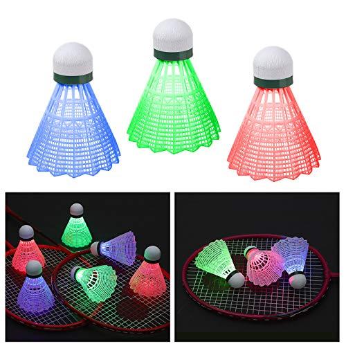 Bádminton LED, XiYee 6 Piezas LED de Bádminton, Iluminación de Pelotas de Bádminton, Estabilidad y Durabilidad Volante Colorido de Iluminación para Actividades Deportivas al Aire Libre e Interiores