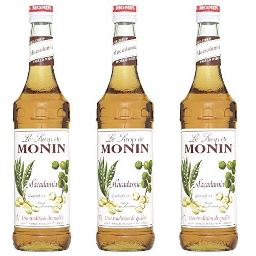 Monin Sirup Macadamia Nuss, 0,7L 3er Pack