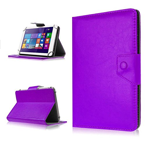 NAUC Tasche Hülle für ODYS Ieos Quad 10 Pro Schutzhülle Tablet Cover Hülle Bag Etui, Modellauswahl:Lila mit Magnetverschluss