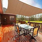 Toldo Vela de Sombra Rectangular 2.5 x 3.6m, Toldos Exterior Terraza Permeable Protección Solar 95% UV y Transpirable para Patio, Jardín, Camping, Porche, Piscinas