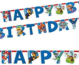 Party Centre Amscan Paw Patrol Letter Banner, Multi Color