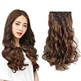 hair extensions for hair Extension Clip in Hair Extensions 18 inch curly wave Hair Pieces Synthetic clips for Hair Extensions for Women for girls Hair Extensions 22 Inch Straight Full Head
