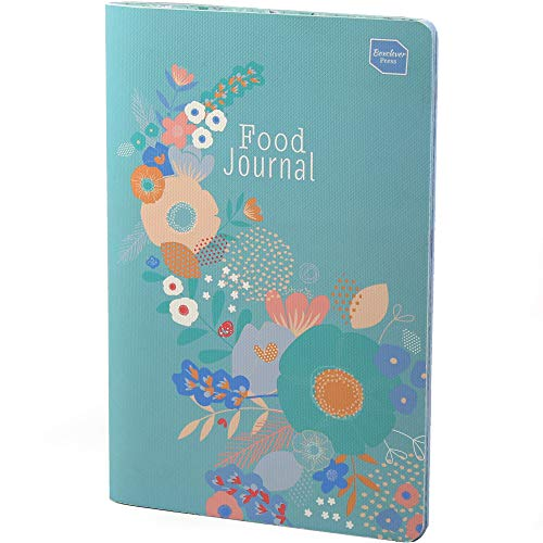 Boxclever Press Food Journal for a Healthier Lifestyle. Food Diary and Food Journal Log Book. Portable Daily Planner to Use with Weight Watchers, Diets or Personal Training Plans. (Turquoise Bloom)