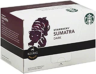Starbucks Sumatra Dark, K-Cup Portion Pack for Keurig K-Cup Brewers, 10-Count 0.42 ounce (Pack of 6)