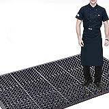 Anti-Fatigue Drainage Rubber Mat Roll 83'x 36' Commercial Interlock Rubber Matting Heavy Duty Rubber Floor Mats Non-slip Restaurant Bar Floor Mat for Home or Business Use