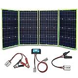 XINPUGUANG Panneau Solaire 200w 4 x 50 watts 12v Chargeur solaire monocristallin 20A double contrôleur pour camper voiture tente...