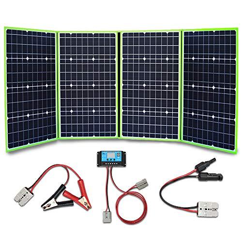 YUANFENGPOWER 200w 12 V pannello solare pieghevole Caricatore solare portatile 4 x 50w 18v modulo monocristallino con regolatore di carica 20A per barche, auto, roulotte, camper, campeggio