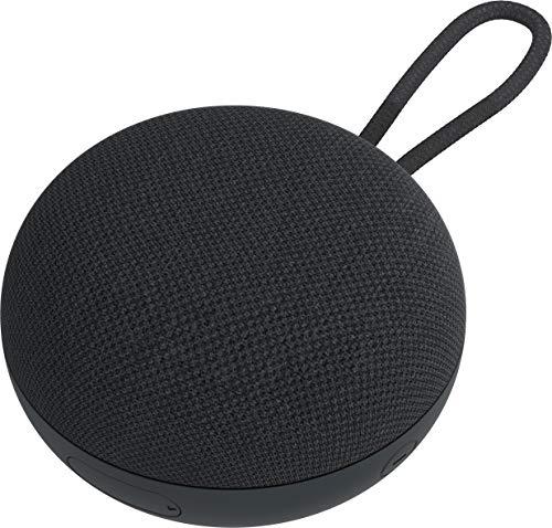 Nokia Tragbarer Bluetooth Lautsprecher Universal, Drahtloser Lautsprecher mit bis zu 4 Stunden Wiedergabe, Tragbarer Lautsprecher mit Mikrofon & Stereoausgang, für Unterwegs, Kompaktes Design, Schwarz
