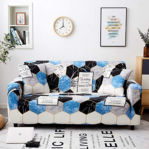 Elastic Couch Sofa fits Folding Sofa Bed 3 seater 190-230cm and 4 seater,Stretch Sofa Cover Cotton Elastic Slipcovers,Sectional Couch Cover L Shape For Living Room K 190-230cm and 235-300cm(2pcs)