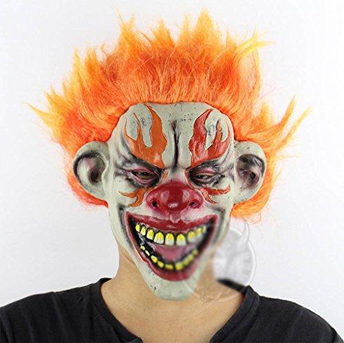 Marcus R Caveggf Flammen Clown Halloween Kammer des Schreckens Flucht Bar Abschlussball Requisiten Emulsion Horrorgeister Furchtsam Maske